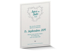 Save the Date Karte Letterpress 712