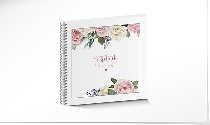 Gastebuch Hochzeit 807 Im Vintage Look Mit Blumen Schuch Verlag